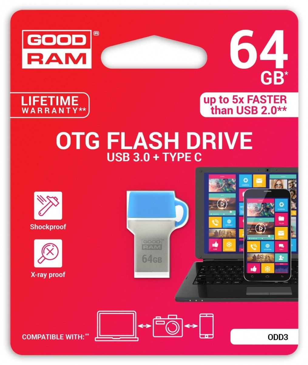 GoodRam ODD 64GB 35/10 MB/s USB3.0 Blue