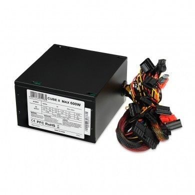 I-BOX ZASILACZ I-BOX CUBE II ATX 600W APFC 12 CM FAN BLACK EDITION