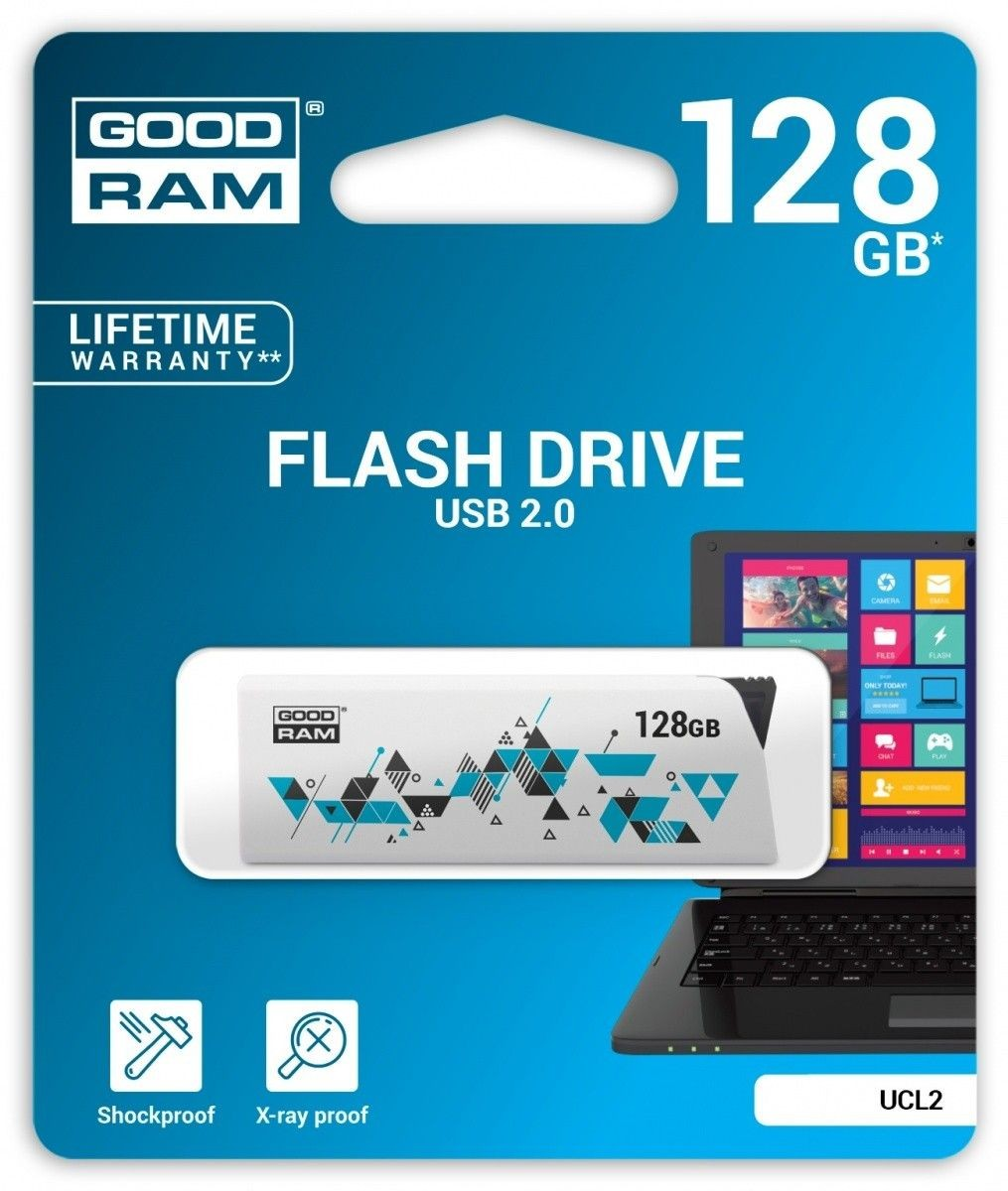GoodRam CLICK 128GB USB2.0 WHITE