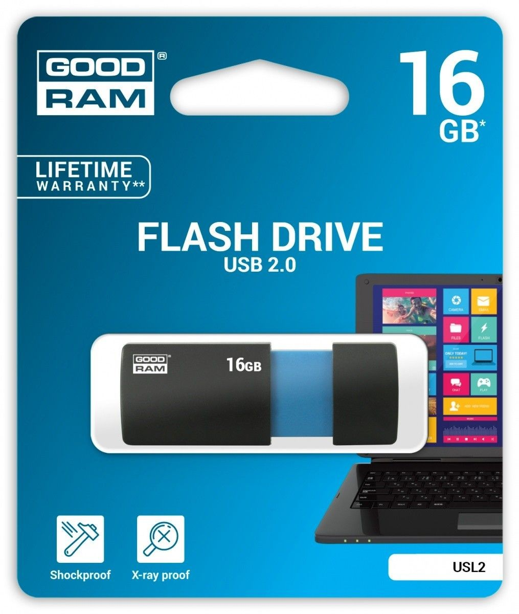 GoodRam SL!de Black 16GB USB2.0