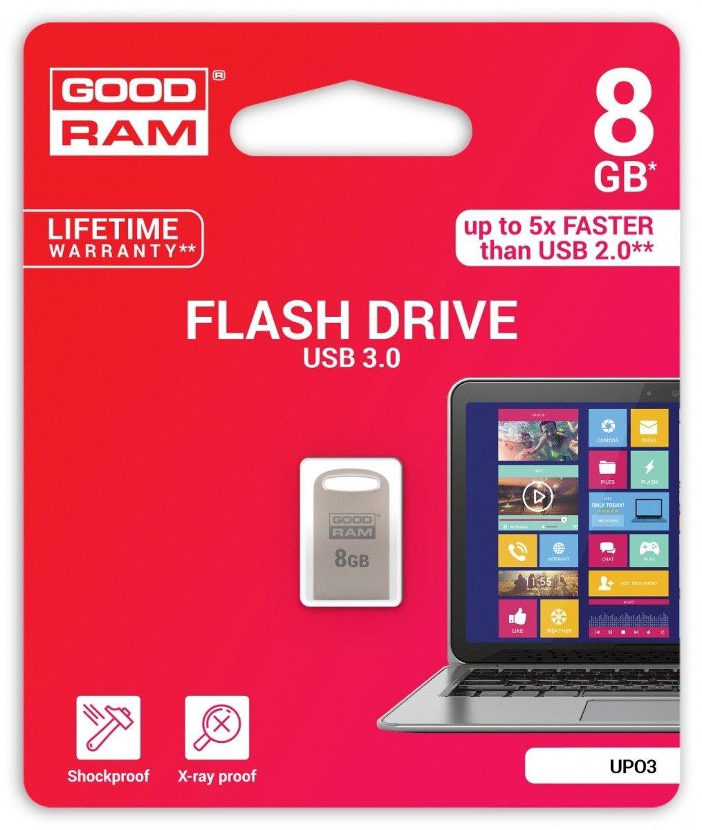 GoodRam Pamięć USB UPO3 8GB USB 3.0 Srebrna