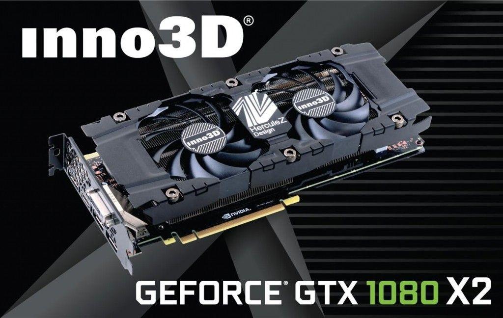 InnoVISION GeForce GTX 1080 TWIN X2, 8GB GDDR5X (256 Bit), HDMI, DVI, 3xDP