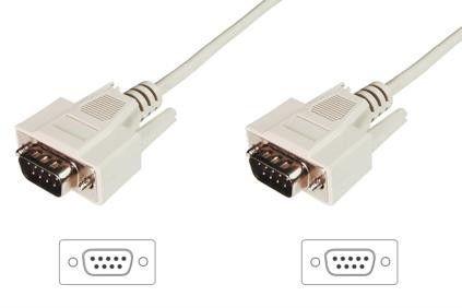 Assmann Kabel połączeniowy RS232 1:1 Typ DSUB9/DSUB9 M/M beżowy 2m