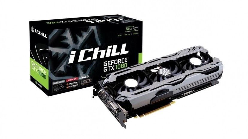 InnoVISION iChill GeForce GTX 1080 X3, 8GB GDDR5X (256 Bit), HDMI, DVI, 3xDP