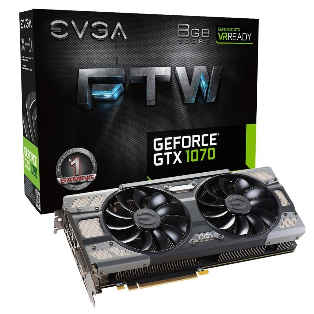 EVGA GeForce GTX 1070 FTW GAMING ACX 3.0, 8GB GDDR5 (256 Bit), HDMI, DVI, 3xDP
