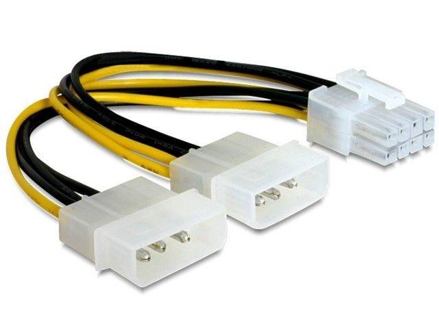 Gembird kabel zasilający wewnętrzny EPS 8 pin -> 2x 4 pin Molex