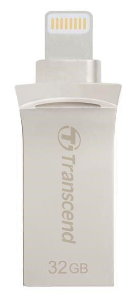 Transcend JetDrive Go 500, 32GB, Lightning/USB 3.1, Silver