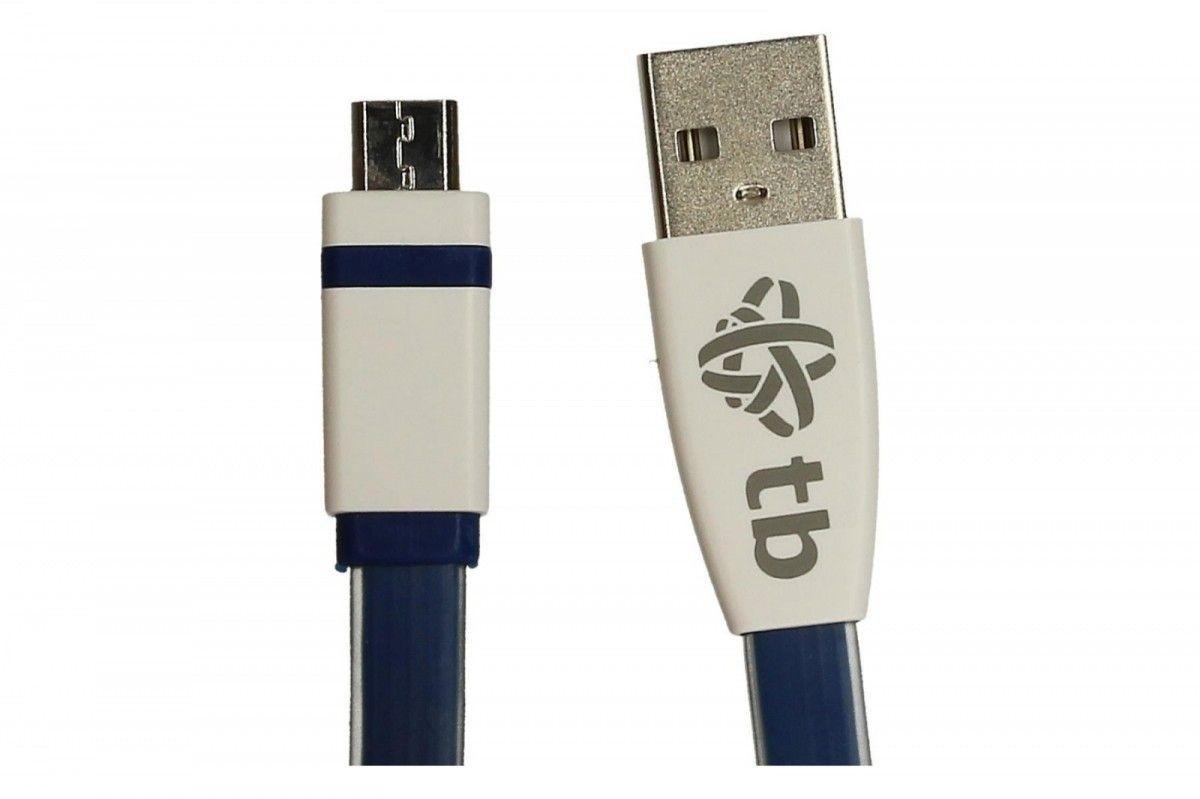 TB Kabel USB - Micro USB 2m. niebieski