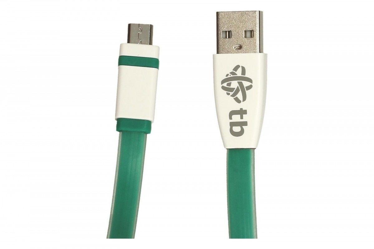 TB Kabel USB - Micro USB 2m. zielony