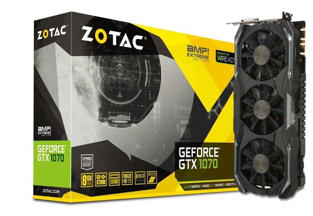 Zotac GeForce GTX 1070 AMP Extreme, 3x IceStorm, ExoArmor, 8GB GDDR5 (256 Bit)
