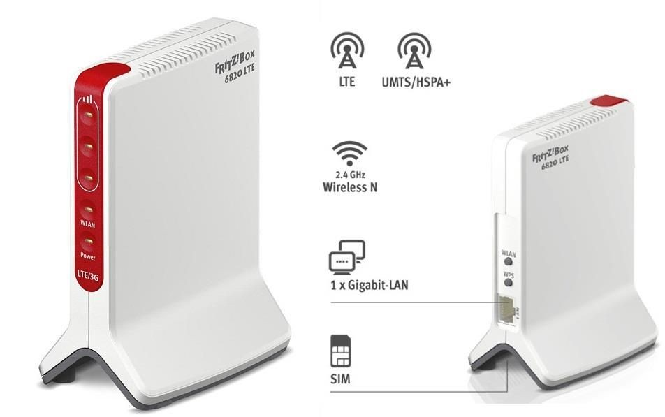 FRITZ Router FRITZ! Box 6820 LTE WiFi N450 DECT Modem LTE Tri-band