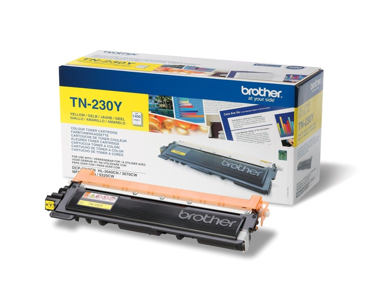 Brother Toner TN 230Y yellow | 1400str | HL 3040CN / 3070CW / DCP 9010CN / MFC91