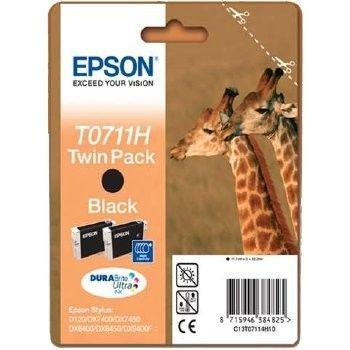 Epson tusz T0711 black Doublepack DURABrite (Stylus D120/120 Network Edition)