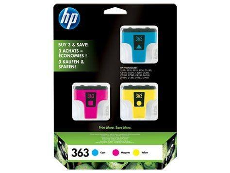 HP Tusz HP 363 CMY 3pack Vivera | 3x6ml | Photosmart8250,3110/3210/3310