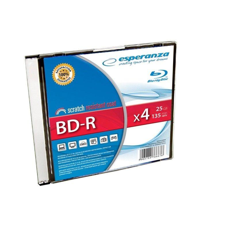 Esperanza BD-R 25GB x4 (slim case, 1szt)