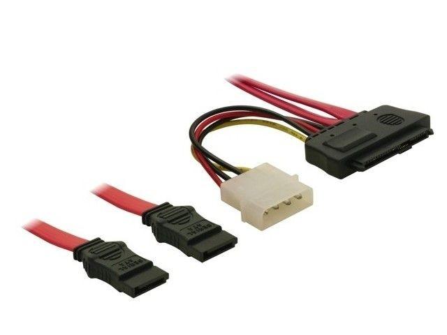 DeLOCK kabel SAS 29pin -> 2 x SATA 7pin 50cm