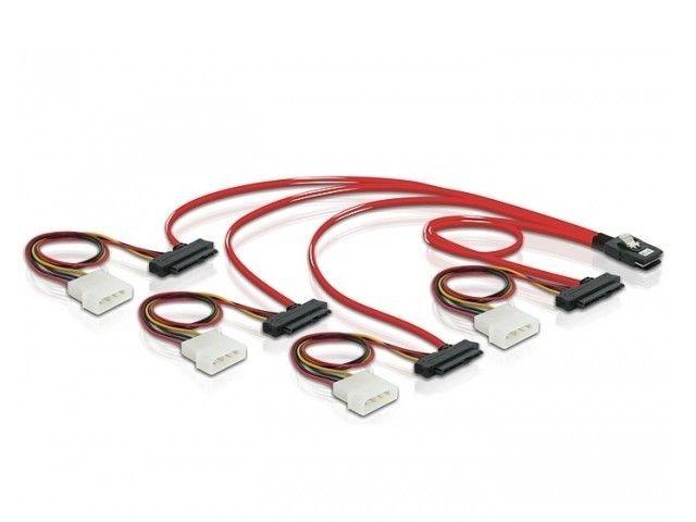 DeLOCK kabel SAS 36pin -> 4 x SAS 29pin 50cm