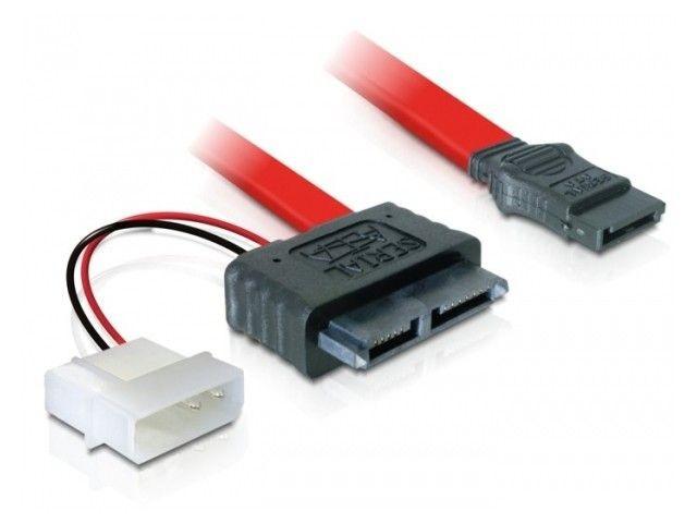 DeLOCK kabel SATA Data slimline + zasilający