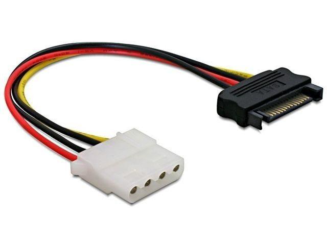 DeLOCK kabel SATA zasilający (M)->MOLEX(F) 12CM