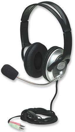 Manhattan słuchawki stereo z mikrofonem Classic