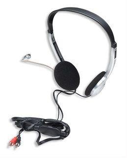 Manhattan słuchawki stereo z mikrofonem Economy