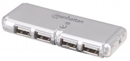 Manhattan 4 Port Hi-Speed USB 2.0 Pocket Hub