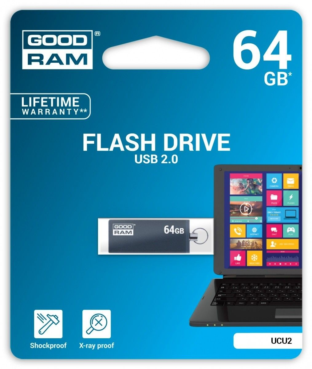 GoodRam CUBE 64GB USB2.0 GRAPHITE