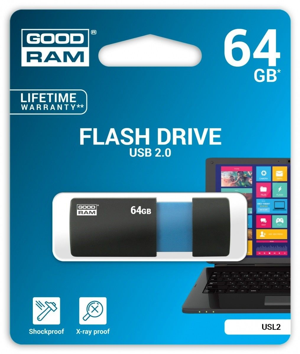 GoodRam SL!de 64GB USB2.0 BLACK