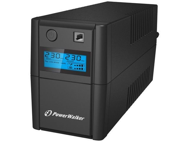 Power Walker UPS LINE-INTERACTIVE 850VA, 4x IEC, RJ11 IN/OUT, USB, LCD