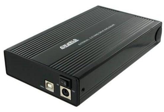 4World Obudowa USB 2.0 na dysk HDD 3.5'' SATA aluminiowa, czarna