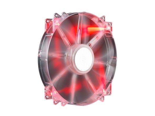 Cooler Master Wentylator do zasilacza/obudowy COOLER MASTER MEGA FLOW RED LED 200MM
