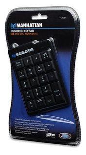 Manhattan klawiatura numeryczna Ultra Slim USB (czarna)