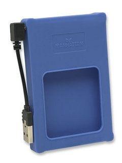 Manhattan obudowa zewnętrzna na dysk 2,5'' SATA (USB 2.0, niebieska, silikon)