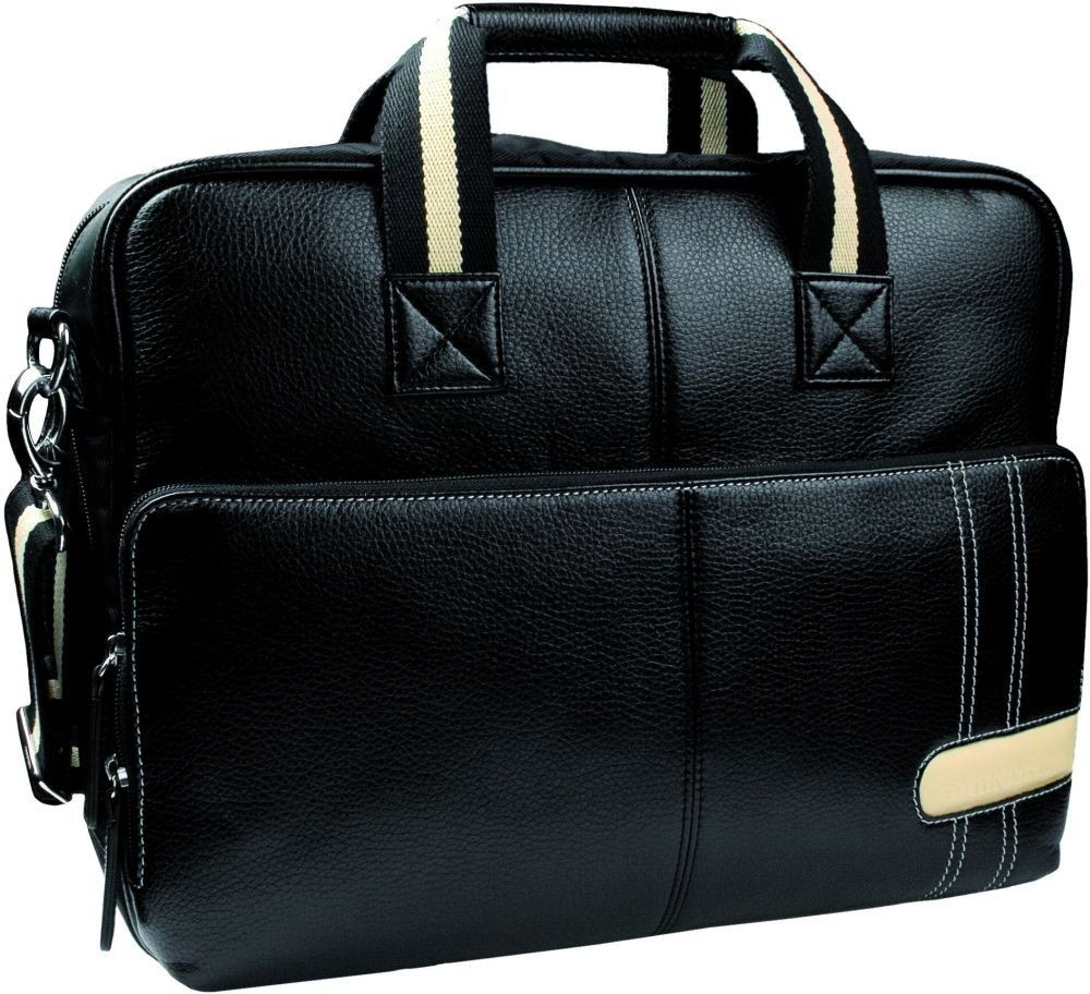 Krusell Gaia Laptop Bag (torba 15.4''- 15.6'', eko-skóra, czarna)