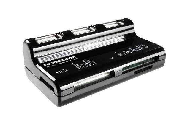 ModeCom CR-WAVE Czytnik kart flash USB All In One - czarny