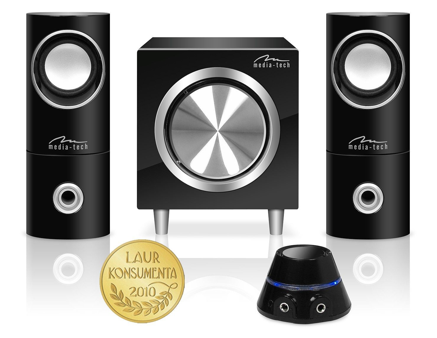 Media-Tech Głośniki komputerowe z pilotem SPEAKERS SET 2.1