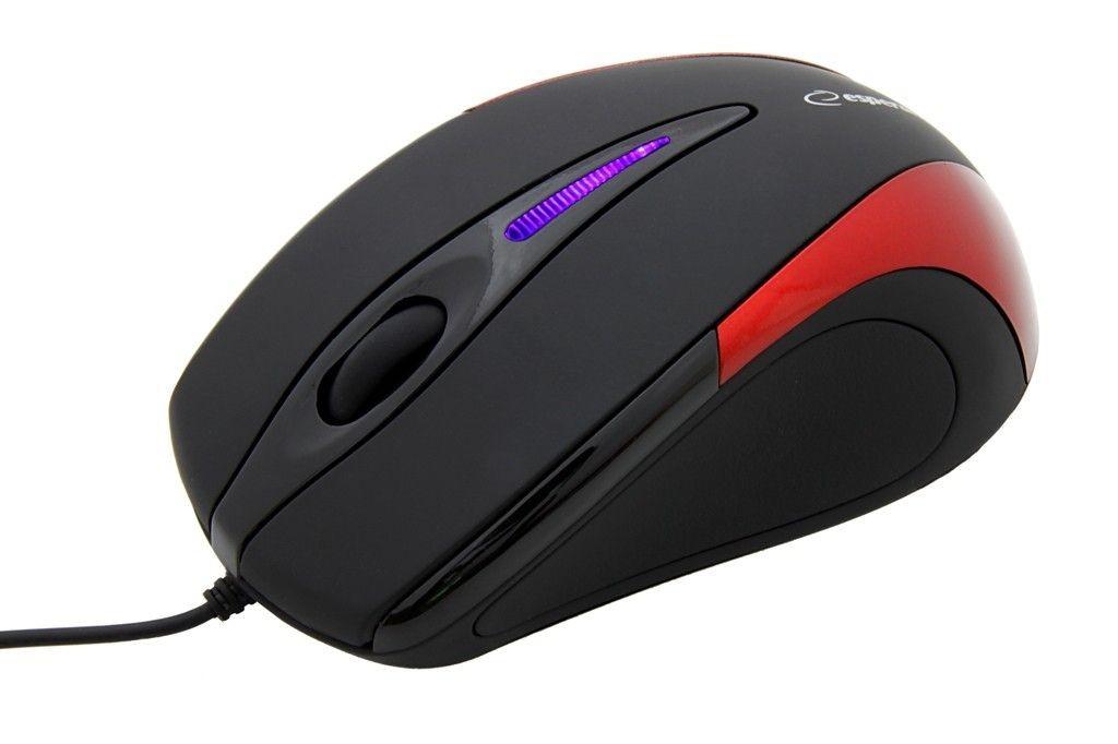 Esperanza Przewodowa Mysz Optyczna EM102R USB | 800 DPI |Czerwona| BLISTER