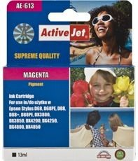 ActiveJet Tusz ActiveJet AE-613 | Magenta | 13 ml | Chip | Epson T0613