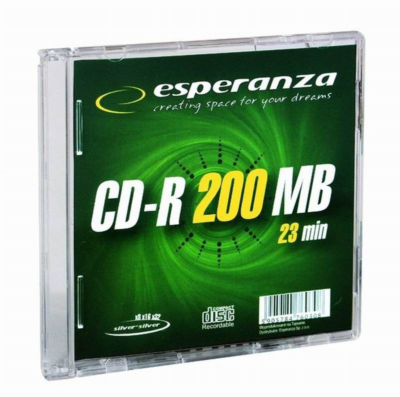 Esperanza Mini CD-R 200MB x32 - Slim 1
