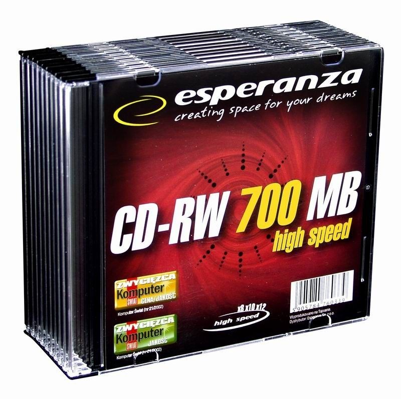 Esperanza CD-RW 700MB/80min 12x (slim case, 10szt)