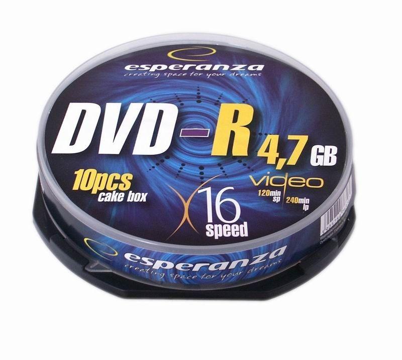Esperanza DVD-R [ cake box 10   4.7GB   16x ]