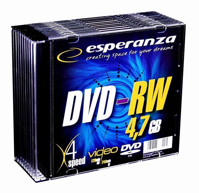 Esperanza DVD-RW 4.7GB 4x (slim case, 10szt)
