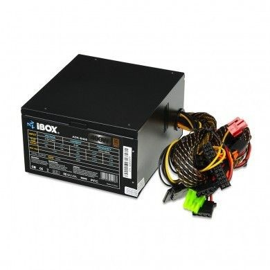 I-BOX ZASILACZ I-BOX ATX 400W 80+ BRONZE 12 CM FAN BLACK EDITION