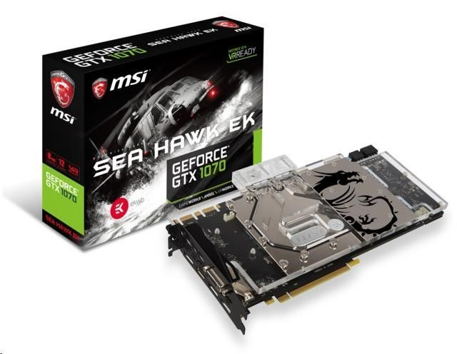 MSI GeForce GTX 1070, 8GB GDDR5 (256 Bit), HDMI, DVI, 3xDP