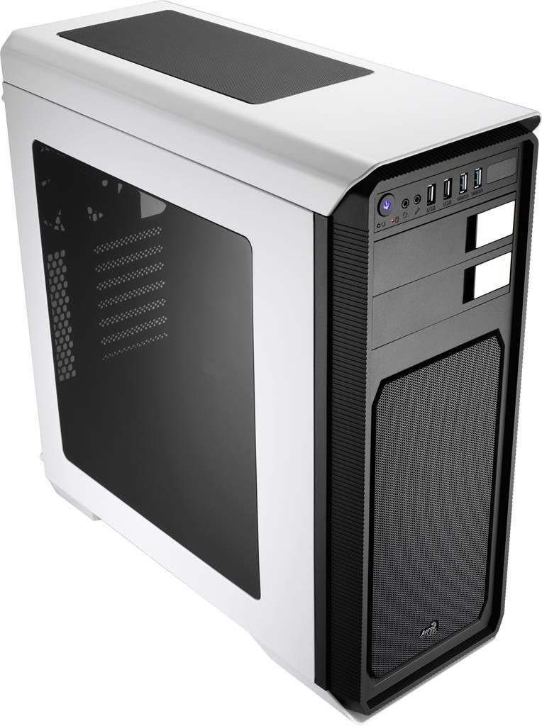 Aerocool AERO-800 WHITE, Obudowa ATX, USB 3.0, bez zasilacza