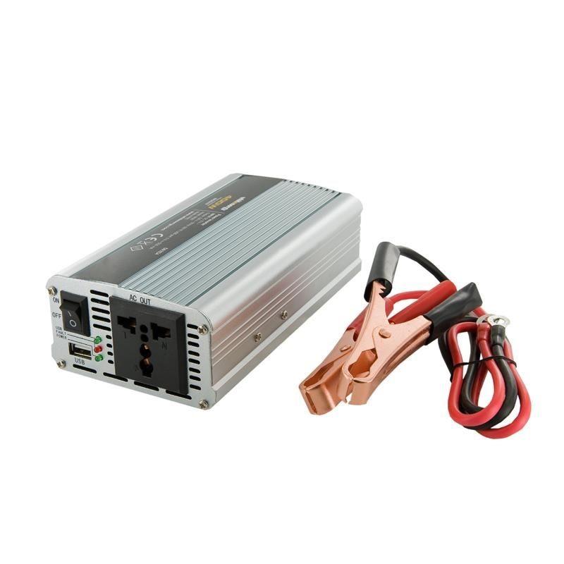 Whitenergy Przetwornica AC/DC 12V (samochód) na 230V, 400W mocy złącze USB