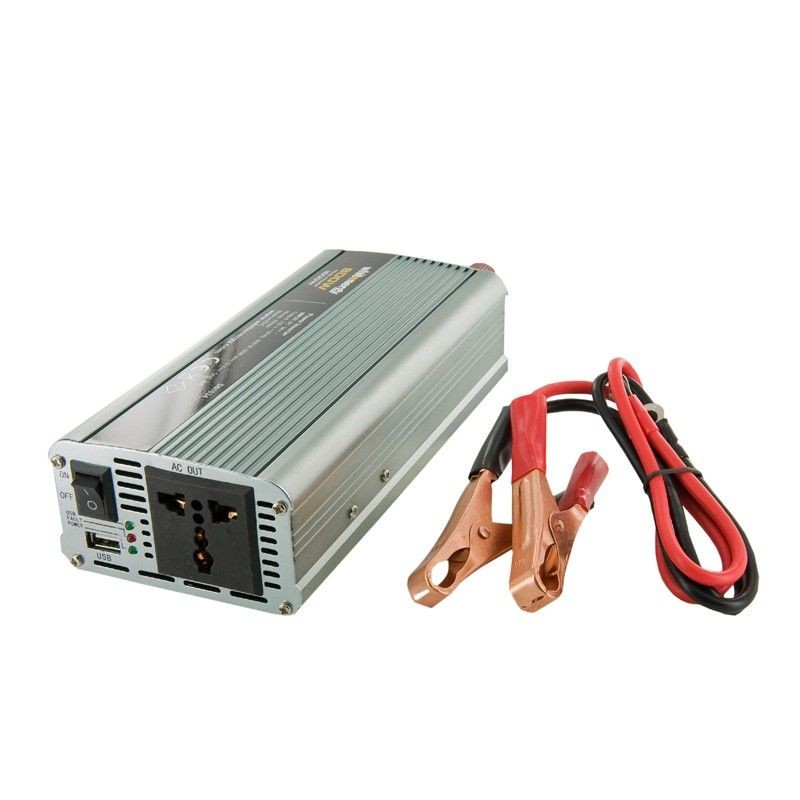 Whitenergy przetwornica AC/DC 12V (samochód) na 230V 800W (USB)