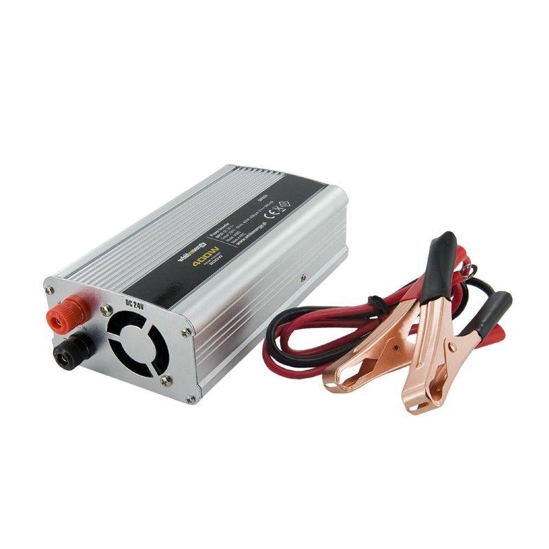 Whitenergy Przetwornica AC/DC 24V (samochód) na 230V, 350W mocy złącze USB