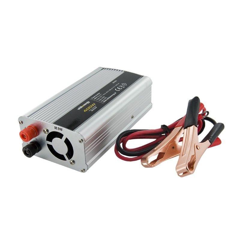 Whitenergy przetwornica AC/DC 24V (samochód) na 230V 400W (USB)
