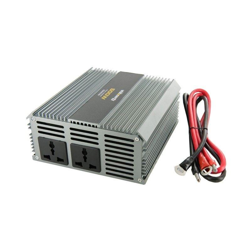 Whitenergy przetwornica AC/DC 24V (samochód) na 230V 500W (2 gniazda)
